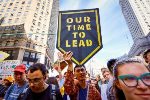 Sunrise Movement Our Time To Lead Climate March