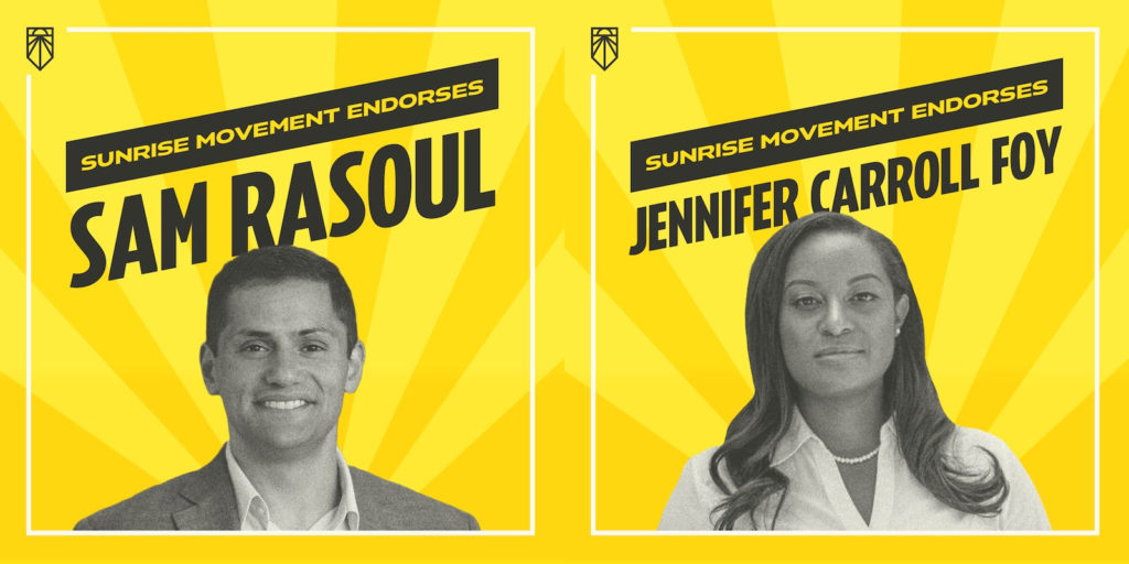 Sunrise Endorsing Virginia Candidates Jennifer Carroll Foy and Sam Rasoul