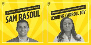 Sunrise Endorsing Virginia Candidates Jennifer Carroll Foy and Sam Rasoul