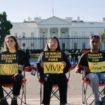 Hunger Strikers outside the White House